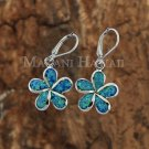 Opal Plumeria Lever Back Earrings
