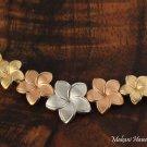14K 5-Plumeria Gold Pendant