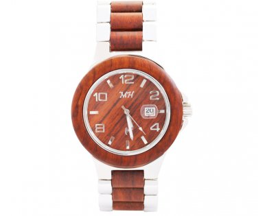 Natural Rose Wood Men's Watch