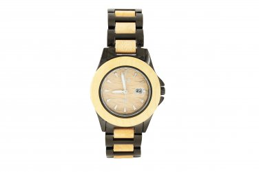 Makani Hawaii Women's Natural Maple Wood Iron-Plated Classic Dial Watch