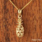 14K Yellow Gold Pineapple Pendant (S) Hawaiian Jewelry GP3119
