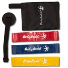 3 Levels Resistance Loop Bands by BodyBudd™ with Guide, Pouch and Door Anchor