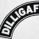 DILLIGAF Patch Top Rocker Black Back Patches for Vest Jacket