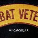 Combat Veteran Patch Top Rocker For Jacket Vest Motorcycle Biker Vets Patches