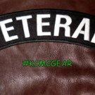 Veteran Patch Top Rocker US Flag Banner Back Patches for Vest Jacket