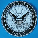 US Navy Large Back Patch Black & White for Vest Jacket 10 inch