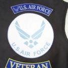 LARGE 3 PC US AIR FORCE VETERAN ROCKERS BACK PATCHES SET MOTORCYCLE JACKET VEST