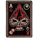 """Ace of Spade Skull Patch dices 8 ball Biker Motorcycle vest jacket size 4"""""""