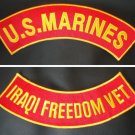 US MARINES CORPS IRAQI FREEDOM VET PATCH SET MARINE PATCHES FOR VEST JACKET NEW
