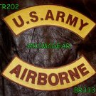 US ARMY AIRBORNE Patches Rockers set for Biker motorcycle vest or Jacket New