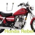 Motorcycle Saddlebags Brackets Set For Honda Rebel Models  New with Warranty