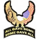 All Gave Some gave all Eagle Patch Large Pow Back patch for vest jacket