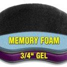 Motorcycle Driver Seat Gel Pad Memory Foam For Harley Davidson Dyna Street Bob