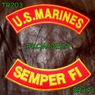 U.S. Marines Semper Fi Embroidered Military Patch Set Sew on Patches for Jackets