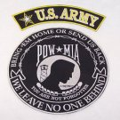 US Army POW MIA Back Patch Set for Jacket vest Biker Motorcycle Large Patches