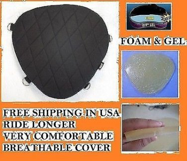 Motorcycle Driver impact Gel Pad Seat for Harley Davidson Softail Deuce Model
