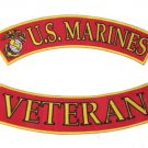 US MARINES CORPS VETERAN USMC MARINES ROCKERS PATCHES FOR VEST JACKET NEW