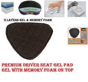 Motorcycle Driver Seat Gel Pad for Yamaha V-Star Models Memory Foam & Gel Combo