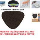 Motorcycle Driver Seat Gel Pad for Harley Davidson Sportster Memory Foam & Gel