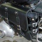 Solo Black Leather Saddle Bag 701 w/Bottle FLSTC/FLSTCI Heritage Softail Classic