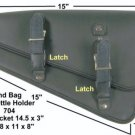 Motorcycle leather swingarm bag for harley sportster.