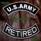 Military Patch Set U.S. Army Retired Embroidered Patches Sew on Patches for Jack