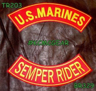 U.S. Marines Semper Rider Embroidered Military Patch Set Sew on Patches for Jack
