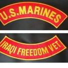 US Marines Iraqi Freedom Vet PATCH SET Biker Motorcycle Veterans Patches New