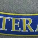 "U.S. VETERAN Blue Gold & White 10"" Rocker Patch"