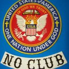 No club Biker Patches set one nation under God Patriot Riders for jacket vest