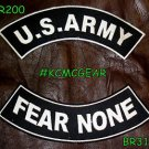 Military Patch Set U.S. Army Fear None Embroidered Patches Sew on Patches for Ja