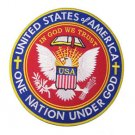 Round united states of america eagle patch