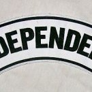 INDEPENDENT Patch Top Rocker For Jacket Vest Motorcycle Riders Biker Patches.