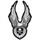 Upwing Eagle Patch skull Cross Bones Back Patch Biker vest Jacket 10x6