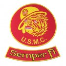RED US MARINES CORPS SEMPER FI USMC MARINES BULL DOG PATCHES FOR VEST JACKET NEW