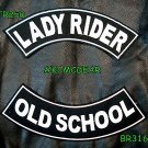 Lady Rider Old School Embroidered Patches Sew on Patches Motorcycle Biker Patch