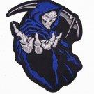 """GRIM REAPER in BLUE  Patch 5"""" X 6"""""""