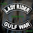 Military Biker Patch Set Lady Rider Gulf War Embroidered Patches Sew on Patches
