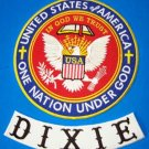Dixie Rebel Southern Biker Patches set one nation under God Patriot Riders new