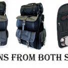 Jumbo Leather Motorcycle SissyBar Bags T Bag Set Travel Touring Pack Set DUAL