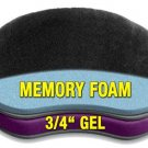 Motorcycle Passenger Back Seat Rear Gel Pad with Memory Foam Thick and Soft New