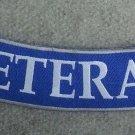 """U.S. VETERAN Blue & Silver10"""" Rocker Patch"""