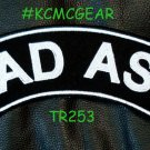 Bad Ass Motorcycle Biker Patch Top Rocker Embroidered Patches for Vest Jacket