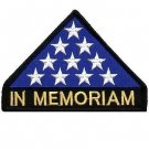 US Flag In Memoriam Triangle Patch Stars for vest jacket size 4""