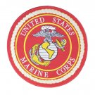 US MARINES CORPS LARGE RED BACK PATCH MARINE PATCHES FOR VEST JACKET NEW