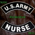 Military Patch Set U.S. Army Nurse Embroidered Patches Sew on Patches for Jacket