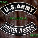 Military Patch Set U.S. Army Prayer Warrior Embroidered Patches Sew on Patches f