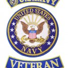 US NAVY PATCHES SET US NAVY VETERAN VET PATCHES FOR VEST JACKET VETERAN