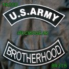 US Army Veteran Vet PATCH SET Biker Motorcycle Veterans Patches New Black white