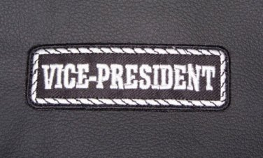 Vice President Patch Badge Emblem for Biker motorcycle Club Officer Leather vest